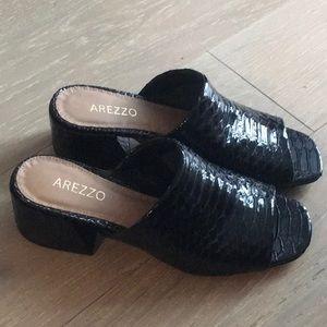 Black Arezzo Sandals